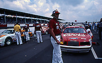 Cars line-up on pit road before the Southern 500 at Darlington Raceway in Darlington SC on September 1, 1985. (Photo by Brian Cleary/www.bcpix.com)