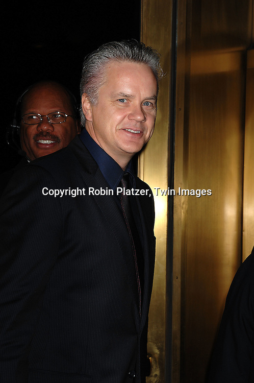 Tim Robbins..arriving at The Museum of the Moving Image 2007 Gala honoring Tom Cruise on November 6, 2007 at Cipriani's 42nd Street. ....Robin Platzer, Twin Images......212-935-0770