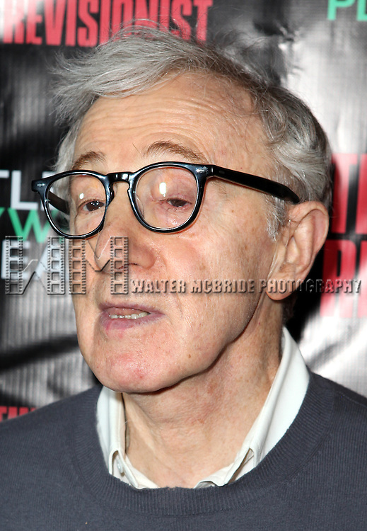 Woody Allen attending the Opening Night Performance of the Rattlestick Playwrights Theater Production of 'The Revisionist' at the Cherry Lane  Theatre in New York City on 2/28/2013