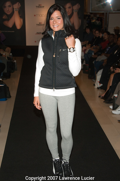 IndyCar Series driver Danica Patrick displays Tissot timepiece fashions October 24, 2007, at Macy's in New York City. (Pictured : DANICA PATRICK).