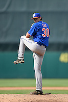 Nicholas Lee (30) of of South Beauregard High School in Longville, Louisiana playing for the New York Mets scout team during the East Coast Pro Showcase on August 1, 2014 at NBT Bank Stadium in Syracuse, New York.  (Mike Janes/Four Seam Images)