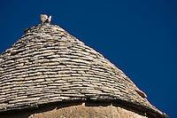 Europe/France/Midi-Pyrénées/46/Lot/Les  Arques:  détail du toit en lauzes de la Tour du Doyen