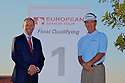 Dick Mast (USA) and Andy Stubbs, Managing Director of European Senior Tour pose for the media after the final round European Senior Tour Qualifying School Finals played at Pestana Pinta Resort on 2nd February 2012 in Vale da Pinta, Carvoeiro, Portugal. (Picture Credit / Phil Inglis)