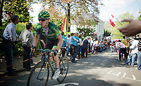 Cyril Gautier (FRA/Europcar) up the Mur de Huy<br /> <br /> La Flèche Wallonne 2014