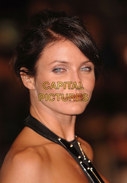 "CAMERON DIAZ.Attending ""The Holiday"" UK Film Premiere, Odeon Leicester Square, London, England, 5th December 2006..portrait headshot black halterneck.CAP/ BEL.©Tom Belcher/Capital Pictures."