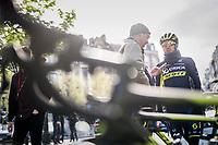 Adam Yates (GBR/Orica-Scott) interviewed at the start<br /> <br /> 103rd Li&egrave;ge-Bastogne-Li&egrave;ge 2017 (1.UWT)<br /> One Day Race: Li&egrave;ge &rsaquo; Ans (258km)