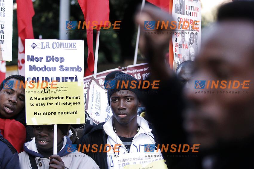 Roma 14/01/2012 Manifestazione nazionale contro il razzismo e per l' accoglienza e  la solidarieta' agli immigrati..Foto Insidefoto  Serena Cremaschi.............