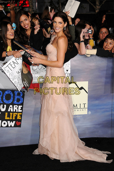 "Ashley Greene.""The Twilight Saga: Breaking Dawn - Part 2"" Los Angeles Premiere held at Nokia Theatre L.A. Live, Los Angeles, California, USA..November 12th, 2012.full length dress pink one shoulder  sheer side fans signing autographs .CAP/ADM/BP.©Byron Purvis/AdMedia/Capital Pictures."