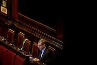 Roma, 31 Gennaio 2014<br /> Camera dei Deputati - Voto sulle pregiudiziali di costituzionalità della legge elettorale<br /> Gianni Cuperlo del Partito Democratico