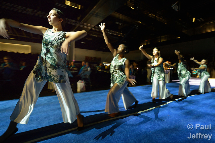 Liturgical dancers participate in the April 24 opening worship service of the 2012 United Methodist General Conference in Tampa, Florida.