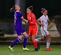 20190920 – LEUVEN, BELGIUM : OHL's  keeper Louise Van Den Bergh is pictured holding the ball after a goal attempt during a women soccer game between Dames Oud Heverlee Leuven A and RSC Anderlecht Ladies on the fourth matchday of the Belgian Superleague season 2019-2020 , the Belgian women's football  top division , friday 20 th September 2019 at the Stadion Oud-Heverlee Korbeekdam in Oud Heverlee  , Belgium  .  PHOTO SPORTPIX.BE | SEVIL OKTEM