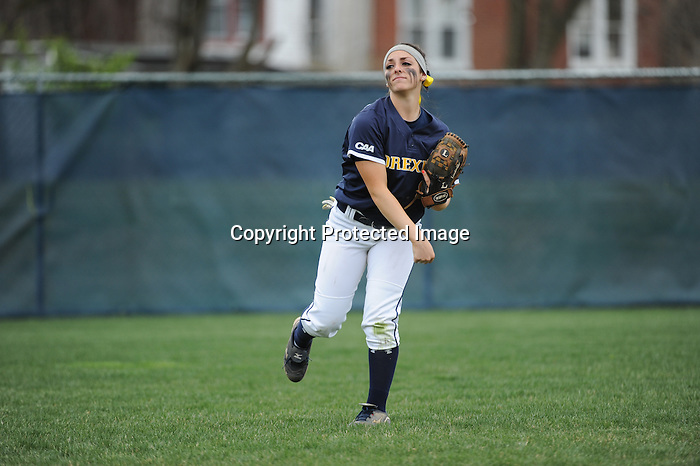 PHILADELPHIA - The La Salle softball team fell to city rival Drexel in today's game at West Campus Field, 7-2. The Dragons broke open the game with a six-run seventh inning for a 7-1 advantage before the Explorers gained one back in the bottom of the inning... ..Through six innings of play, sophomore starter Alicia Aughton allowed just four hits and one run. Junior Megan Hodgson provided a clutch single in the sixth to drive in freshman Casey Lester to tie the game at 1-1. But the Dragons answered ferociously with six runs in the seventh including a two-run homerun off the bat of senior Jenn Reading... ..Sophomore Kristin Travers added a solo homerun in the bottom of the seventh, her second of the season, but that's the last the Explorers would score. Sophomore Alyssa Bitsimis singled to left in the third and freshman Alyssa Sims reached on an infield single in the sixth t aid Hodgson in driving in Lester... ..The Explorers now stand at 13-23 on the season as they gear up for three home doubleheaders starting on Sunday, April 21 against the Dayton Flyers.