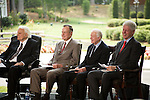 Thursday, May 31, Charlotte, North Carolina. Dedication ceremony for the new Billy Graham Library in Charlotte, North Carolina.. Billy Graham and former US presidents George HW Bush, Jimmy Carter and Bill Clinton.
