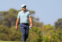 James Heath (ENG) on the 18th fairway during Round 1 of the ISPS Handa World Super 6 Perth at Lake Karrinyup Country Club on the Thursday 8th February 2018.<br /> Picture:  Thos Caffrey / www.golffile.ie<br /> <br /> All photo usage must carry mandatory copyright credit (&copy; Golffile | Thos Caffrey)