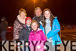 Mary Quillinan, Ken Quillinan, Keith Quillinan, Chloe Quillinan and Amy O'Connor enjoying the New Year's Eve fireworks display at Manor on Wednesday evening