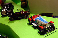 Antique tin model cars<br /> Antique toys exposed at Palazzo Braschi during the Exhibition 'For fun. Collection of antique toys of Capitoline Superintendency'.<br /> Rome (Italy), July 24th 2020