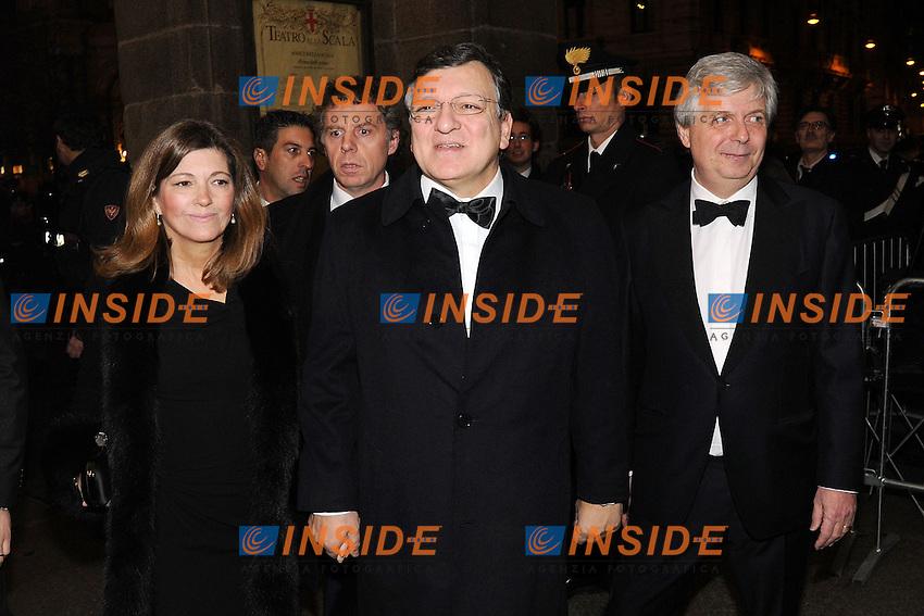 Jose' Manuel Barroso, Stephan Lissner<br /> Milano 07/12/2013 - prima teatro alla Scala - Opening La Scala Theatre 2013/2014<br /> foto Andrea Ninni/Image/Insidefoto