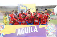 IPIALES - COLOMBIA, 20-08-2019: Jugadores del Pasto posan para una foto previo al partido por la fecha 6 de la Liga Águila II 2019 entre Deportivo Pasto y Atlético Huila jugado en el estadio Estadio Municipal de Ipiales. / Players of Pasto pose to a photo prior match for the date 6 as part of Aguila League II 2019 between Deportivo Pasto and Atletico Huila played at Municipal stadium of Ipiales. Photo: VizzorImage / Leonardo Castro / Cont