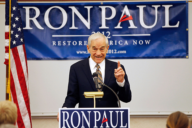 Congressman Ron Paul speaks during a campaign stop in Waverly, Iowa on Friday, December 9, 2011. (Christopher Gannon/MCT)