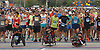 Participants in the Long Island Marathon line up behind the starting line on Charles Lindbergh Boulevard in Uniondale on Sunday, May 6, 2018