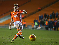 Blackpool's Will Aimson misses his penalty in the shootout<br /> <br /> Photographer Alex Dodd/CameraSport<br /> <br /> Checkatrade Trophy Round 3 Blackpool v Wycombe Wanderers - Tuesday 10th January 2017 - Bloomfield Road - Blackpool<br />  <br /> World Copyright &copy; 2017 CameraSport. All rights reserved. 43 Linden Ave. Countesthorpe. Leicester. England. LE8 5PG - Tel: +44 (0) 116 277 4147 - admin@camerasport.com - www.camerasport.com