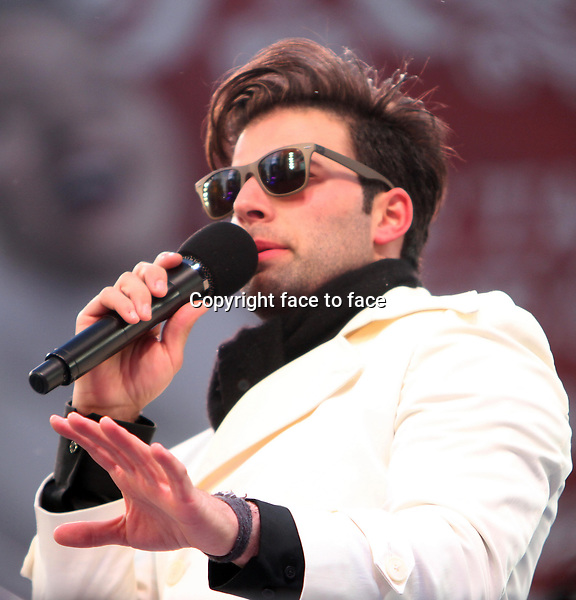 New York, NY-December 31: Jencarlos Canela at the 2014 New Years Eve Celebration held in Times Square on December 31, 2013 in New York City.<br /> Credit: MediaPunch/face to face<br /> - Germany, Austria, Switzerland, Eastern Europe, Australia, UK, USA, Taiwan, Singapore, China, Malaysia, Thailand, Sweden, Estonia, Latvia and Lithuania rights only -