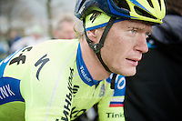Matti Breschel's (DEN/Tinkoff-Saxo) post-race face<br /> <br /> 70th Dwars Door Vlaanderen 2015