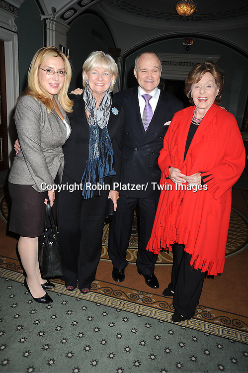 I Dolly Lenz, Police Commissioner Ray Kelly, wife Veronica and Fran Weissler attend The Police Athletic League's 23rd Annual Women of the Year Luncheon on November 7, 2011 at ..The Pierre Hotel in New York City.