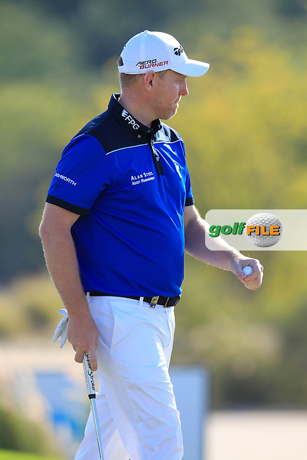 Stephen GALLACHER (SCO) at the 10th green during Thursday's Round 2 of the 2015 Commercial Bank Qatar Masters held at Doha Golf Club, Doha, Qatar.: Picture Eoin Clarke, www.golffile.ie: 1/22/2015