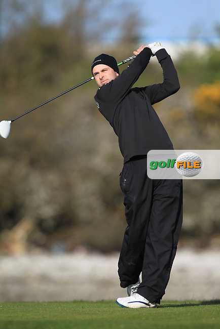 Ian O'Flynn (Cork) on the 4th tee during Round 1 of the Munster Stroke Play Championship at Cork Golf Club on Saturday 30th April 2016.<br /> Picture:  Thos Caffrey / www.golffile.ie