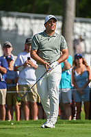 Francesco Molinari (ITA) watches his tee shot on 3 during round 3 of the 2019 Charles Schwab Challenge, Colonial Country Club, Ft. Worth, Texas,  USA. 5/25/2019.<br /> Picture: Golffile | Ken Murray<br /> <br /> All photo usage must carry mandatory copyright credit (© Golffile | Ken Murray)