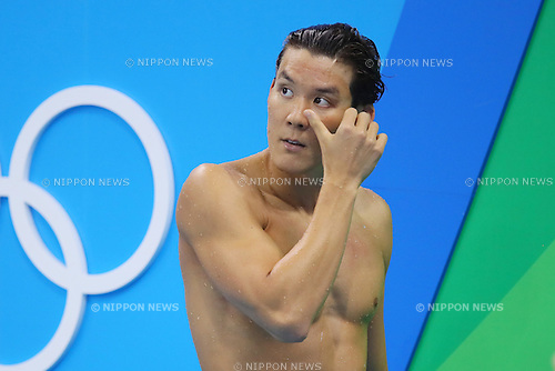 Park Tae-hwan (KOR), <br /> AUGUST 9, 2016 - Swimming : <br /> Men's 100m Freestyle Heat <br /> at Olympic Aquatics Stadium <br /> during the Rio 2016 Olympic Games in Rio de Janeiro, Brazil. <br /> (Photo by Yohei Osada/AFLO SPORT)
