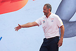 Coach Juan Antonio Orenga during the official presentation of Spain´s basketball team for the 2014 Spain Basketball Championship in Madrid, Spain. July 24, 2014. (ALTERPHOTOS/Victor Blanco)