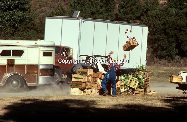 Stunt crash for televison production on backlot in Holllywood, CA