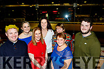Staff from Garvey's Listowel having a bash at the Kingdom greyhound stadium, Tralee last Saturday night, L-R Michael McElligott, Lisa O'Carroll, Eileen Welsh, Anitra Kelly, Rose O'Connor, Paula Dunn and Darragh Hughes.