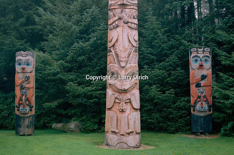 Totem poles<br /> Sitka National Historical Park<br /> Sitka, Baranof Island<br /> Southeast Alaska