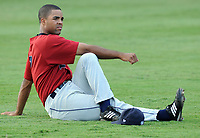 Christopher Jackson of the Lexington Legends, Class A affiliate of the Houston Astros, in a game against the Greenville Drive on August 13, 2008, at Fluor Field at the West End in Greenville, South Carolina. (Tom Priddy/Four Seam Images
