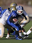 Carson's Brady O'Keefe runs against Reed during the NIAA D-1 Northern Regional title game at Bishop Manogue High School in Reno, Nev., on Saturday, Nov. 29, 2014. Reed won 28-25.<br /> Photo by Cathleen Allison