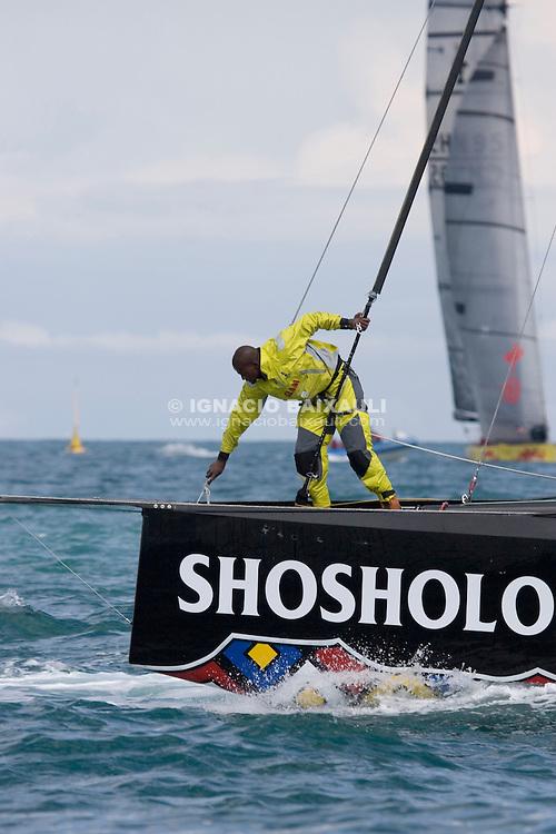 Team Shosholoza -  - VALENCIA LOUIS VUITTON ACT13 - DAY 5 - FLEET RACE 6 & 7 - 2007 abr 07