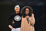 MIAMI, FL - OCTOBER 25: Stacey Griffith onstage with Oprah Winfrey at Oprahs The Life You Want Weekend at American Airlines Arena on Saturday October 25, 2014 in Miami, Florida. (Photo by Johnny Louis/jlnphotography.com)