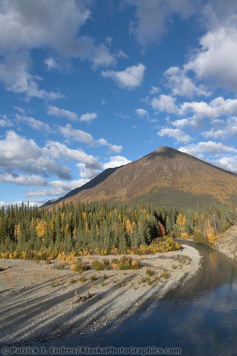 Marion creek winds through the Brooks Range in Arctic Alaska.