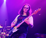 Geddy Lee of the Canadian classic rock band RUSH performs at the 1st Mariner Arena in Baltimore, Maryland April 22, 2011. .Copyright EML/Rockinexposures.com.