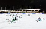 Stockholm 2015-01-06 Bandy Elitserien Hammarby IF - V&auml;ster&aring;s SK :  <br /> V&auml;ster&aring;s spelare jublar och glider p&aring; magen p&aring; isen efter matchen mellan Hammarby IF och V&auml;ster&aring;s SK <br /> (Foto: Kenta J&ouml;nsson) Nyckelord:  Elitserien Bandy Zinkensdamms IP Zinkensdamm Zinken Hammarby Bajen HIF V&auml;ster&aring;s VSK jubel gl&auml;dje lycka glad happy