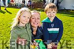 Diarmuid Brown, Mia and Karolina Wozniak enjoying the afternoon at the Fenit Samphires FC fun day on Saturday.