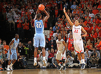 North Carolina Tar Heels forward Harrison Barnes (40) shoots the ball during the game against Virginia in Charlottesville, Va. North Carolina defeated Virginia 54-51.