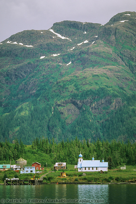 Tatitlek native village, Russian Orthodox church, Eastern Prince William Sound, Alaska