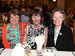 Rosemary Durnin, Angela casey and Connie McEvoy pictured at the Daughters of charity dinner in An Grianan. Photo:Colin Bell/pressphotos.ie