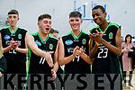 Mercy Mounthawk players celebrate after defeating CBS The Green U19 A Boys Subway Schools Cup semi final at Tralee Sports Complex on Thursday.