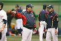 (L to R) . Osamu Higashio (JPN), .Toshiya Sugiuchi (JPN), .MARCH 1, 2013 - WBC : .2013 World Baseball Classic .Japan team training .in Fukuoka, Japan. .(Photo by YUTAKA/AFLO SPORT)