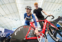 Picture by Allan McKenzie/SWpix.com - 06/01/2018 - Track Cycling - Revolution Champion Series 2017 - Round 3 - HSBC UK National Cycling Centre, Manchester, England - Megan Barker, HSBC UK, Kalas, Team Inspired, branding.